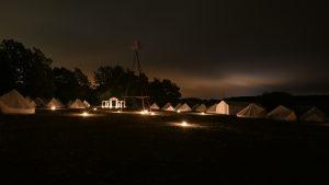 unser Lagerplatz bei Nacht